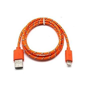 Amazon.com: 2 M irrompible colores trenzada 30 pin USB ...