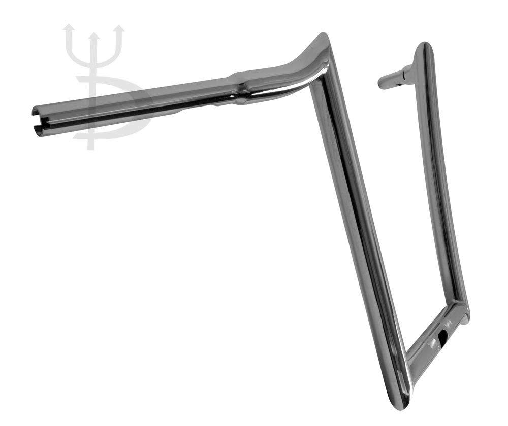 DEMONS CYCLE Mayhem Chrome 14 Rise Ape Hangers 1-1//4 Diameter Handlebars for Harley Road Glide 2016-Up