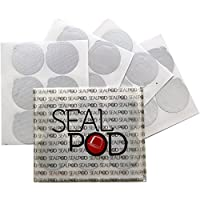 Sealpod Espresso Lids for Nespresso Reusable Capsules - Foil Seals: Fill Your Own Capsules with Our Sticker Lids (100/package)
