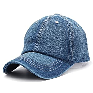 HH HOFNEN Unisex Cotton Baseball Cap Adjustbale Plain Sports Dad Hats Low Profile