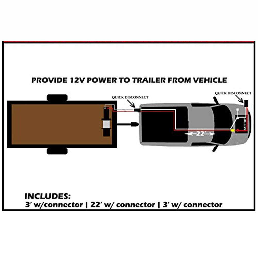 RUGCEL WINCH 1-Gauge 800A Permanent Installation kit Jumper Battery Cables with Quick Connect Plug 30 Ft Booster Jump Start ENB-130-30' Allows You to Boost a Battery from Behind a Vehicle by RUGCEL WINCH (Image #4)