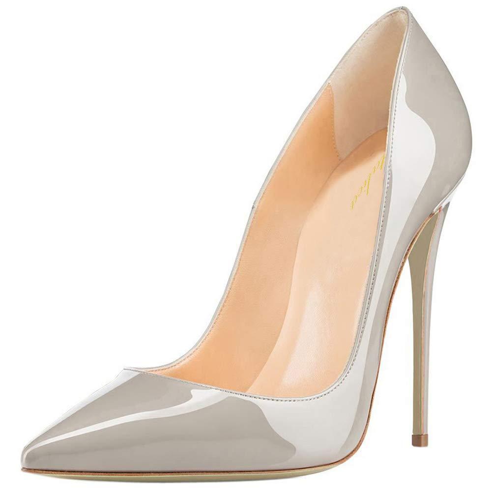 Lutalica Frauen Spitz Patent Stiletto High Heel Hochzeit Party Kleid Pumps Schuhe