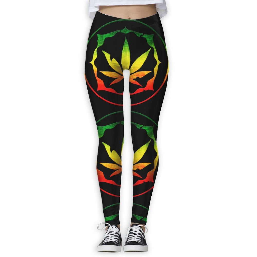 Weed Canabbis Jamaica Women's Stretchable Sports Running Yoga Workout Leggings Pants
