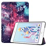 iPad Mini 2019 5th Generation 7.9'/iPad Mini 4 2015, UZER Colored Drawing Series Lightweight PU Leather Smart Case Protective Folio Trifold Stand with Soft TPU Back Cover for iPad Mini 5/ iPad Mini 4