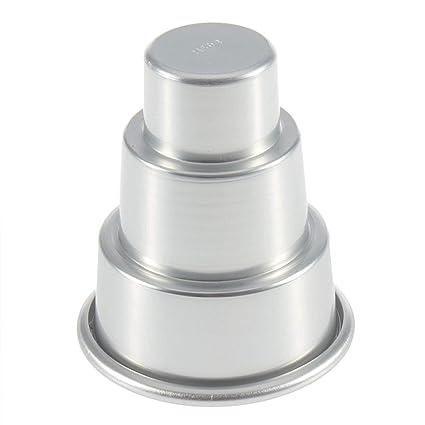 Detectoy Molde de la Torta, Plata Moda Molde de pudín Especial DIY Mini 3-