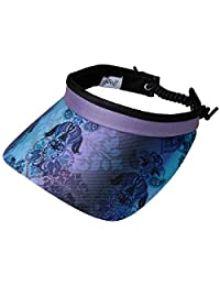 Women's Adjustable Coil Visor - Glove It - Golf & Tennis Head Visors for Women - UV 50 Protection - Ladies Sun Visor Hat - Large Wide Brim - 2019 Lilac Paisley