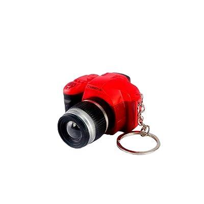 aoixbcuroc Creative Super Mini cámara de Sonido LED Llavero Colgante Lindo DIY Arte artesanía plástico Llavero decoración año Nuevo Regalo de cumpleaños de San Valentín: Juguetes y juegos