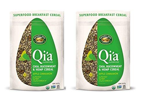 (Natures Path Qia Chia Buckwheat and Hemp Cereal, Apple Cinnamon, 7.9-Ounce - 2 Packs)