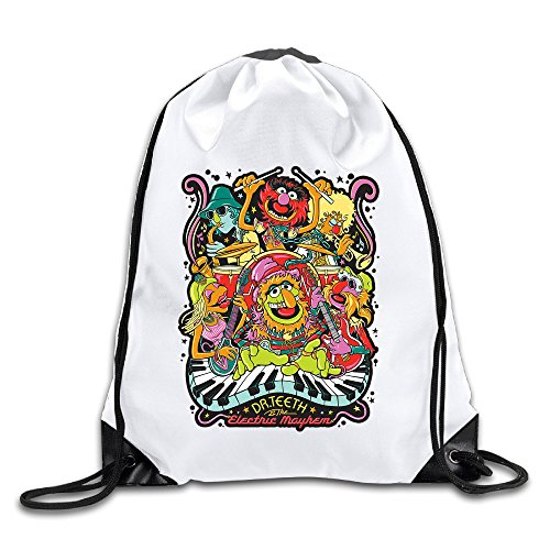 BACADI Dr. Teeth And The Electric Mayhem Drawstring Backpacks/Bags. -