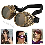 TBWHL New Sell Diamond Lens Vintage Steampunk Goggles Glasses Welding Cyber Punk Gothic-Copper 6