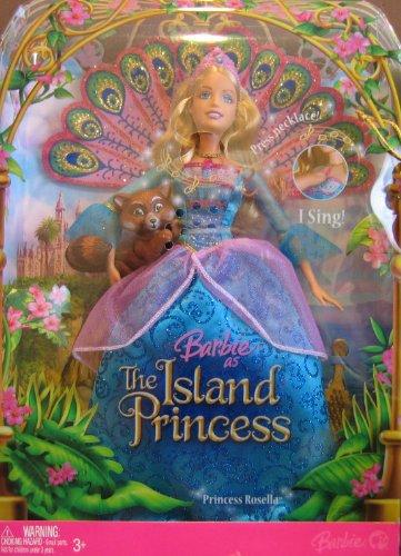 Barbie Princess Rosella Doll - Barbie as Island Princess Rosella Singing Doll w Sagi the Red Panda (2007)