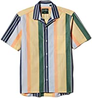 Gitman Vintage Men's Cotton Awning Stripe Camp Collar Shirt