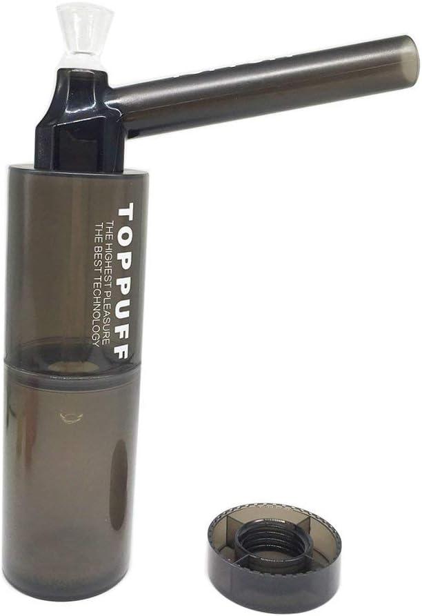 Tubo de agua que fuma de la cachimba de acrílico portable y durable con el color negro transparente de la botella plástica (tubo con la botella)