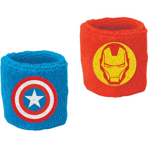 """Amscan Avengers Birthday Party Sweat Band Favor, 3"""" x 2 1/2"""", Multicolor"""