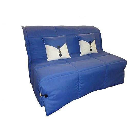 Sofá BZ Convertible SOAN Azul 140 * 200 cm Colchón Confort ...