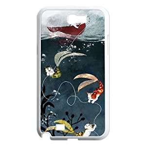 Cat Art Pattern Hard Shell Cell Phone Case for Samsung Galaxy Case Note 2 HSL379581