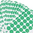 Universal® Permanent Self-Adhesive Color-Coding Labels, 3/4in dia, Green, 1008 per Pack