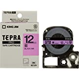 キングジム テープカートリッジ テプラPRO 12mm SC12V 紫 黒文字
