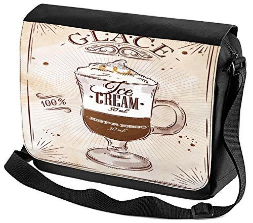 Umhänge Schulter Tasche Fun Küche Eiskaffee bedruckt