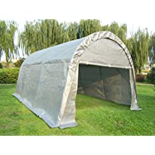Quictent 20'X13'x10' Heavy Duty Carport Canopy Garage Shelter for Truck/SUV/Boat Silver