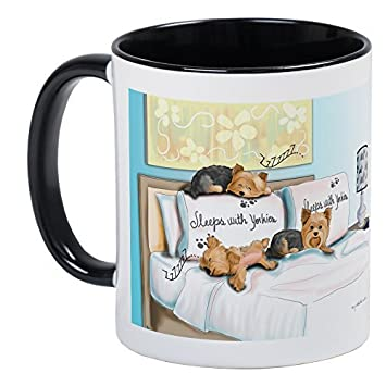 Sleeps With Yorkies Unique Present Idea For Men And Women Coffee Mug Gifts Papa Husband