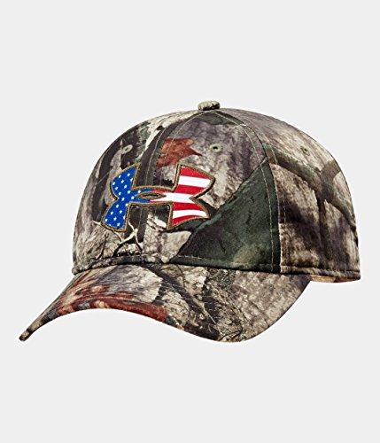 (Under Armour Men's UA Big Logo Americana Camo Cap One Size Fits All REALTREE MAX 5)