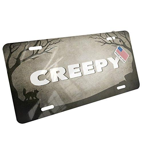 NEONBLOND Metal License Plate Creepy Halloween