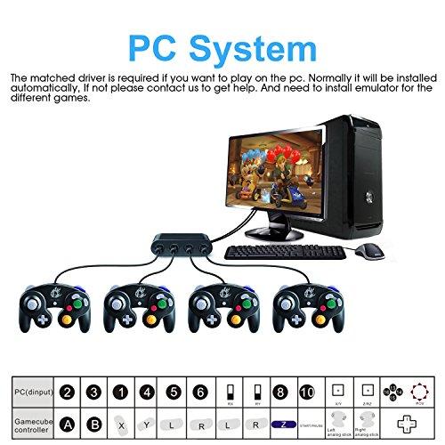 Wii U Gamecube Controller Adapter,YTEAM Gamecube NGC