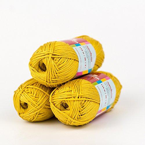 - LOT OF 4 SKEINS - 7 oz/200 gr Virgin Pure 100% Mercerized Cotton Troitsk Yarn Russia