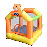 Costway Waterproof, Flame-resistant, Heavy-duty, Inflatable Little Bear Bounce House Jumper Moonwalk Outdoor Kids Without Blower