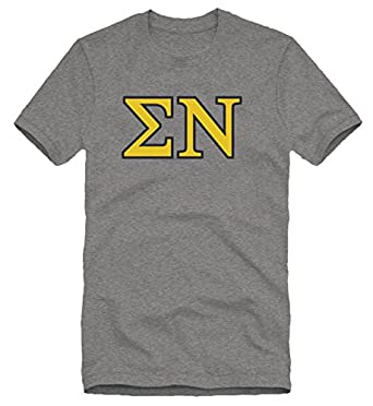 low-cost Sigma Nu Greek Letter Tee