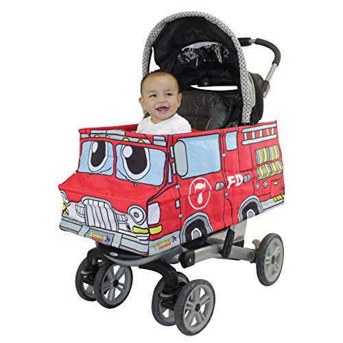 Costumes 30 Second Halloween (Universal Stroller Costume for Baby Infant Toddler Turns Into A Fire Truck)