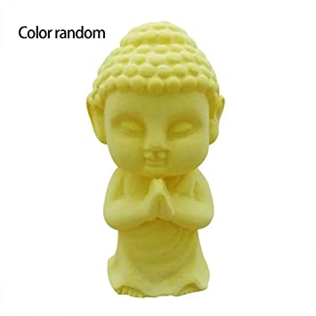 Laurelmartina 3D Buda Statu Molde de Silicona Hecho a Mano de Buda para Hornear Herramientas Decorativas