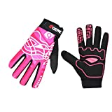 Lerway Full Finger Riding Cycling Sport Gloves Breathable Windproof with Shock-absorbing pad and Wrist Wrap