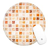 Best Luxlady Tile Patterns For Bathrooms - Luxlady Round Gaming Mousepad 25763868 Tile texture wall Review