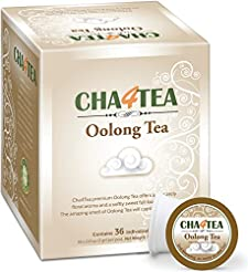 Cha4TEA 36 Oolong Tea Pods for Keurig K-...