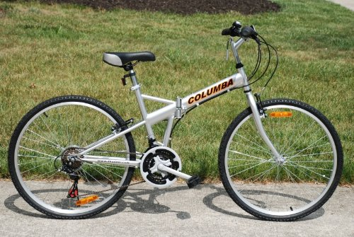 Columba 26″ Folding Bike w. Shimano 18 Speed Silver (SP26S_SLV) Top Offers