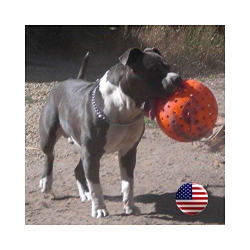 - Indestructible 10 Large Dog Ball in Orange Pit Bulls Mastiffs Rottweiler by Unbranded