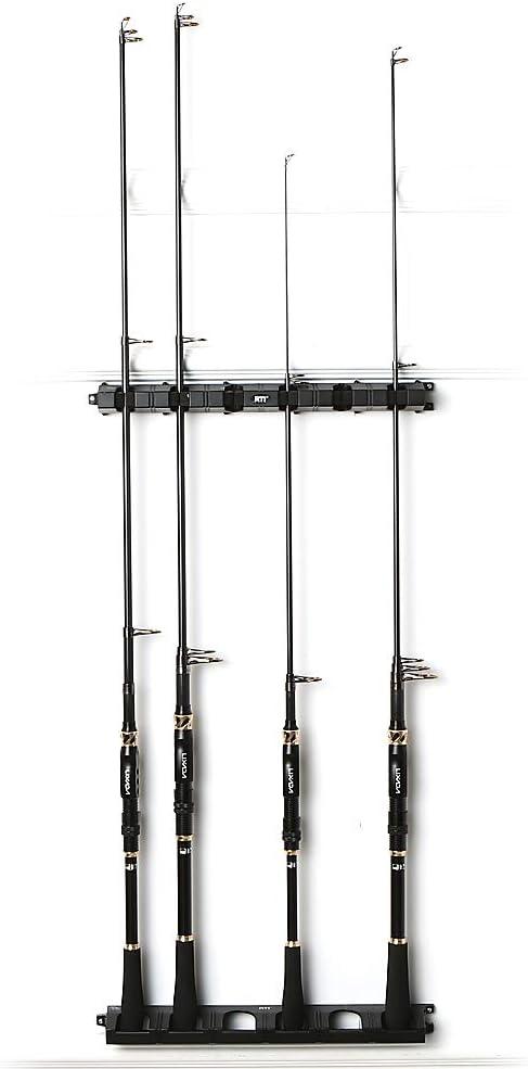 Lixada Fishing Rod Rack Wall Mounted Fishing Pole Storage Rack Stand Holder for 6 Fishing Rods