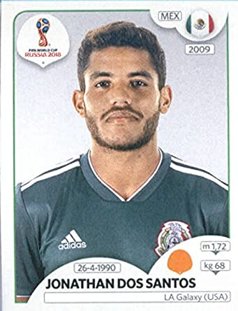 2018 panini world cup stickers russia 461 jonathan dos santos mexico soccer sticker
