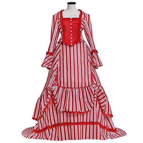 (Women Red Lolita Long Fancy Dress Halloween Party Costume)