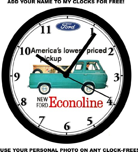 1961 FORD ECONOLINE PICKUP WALL CLOCK-Free USA Ship