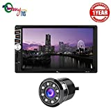 myTVS TAV-61 Car Double Din HD Touch Screen Stereo with 8 LED Rear View Camera-Black
