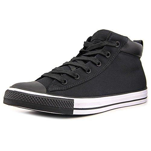 Converse Chuck Taylor Street Mid Sneaker - Black/Black - 10