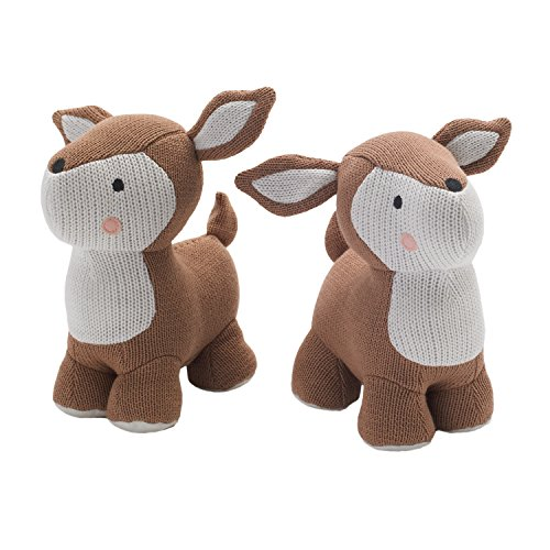 lolli-living-bookend-friends-deer-adorable-weighted-animal-shaped-bookends-for-baby-nursery-100-cott