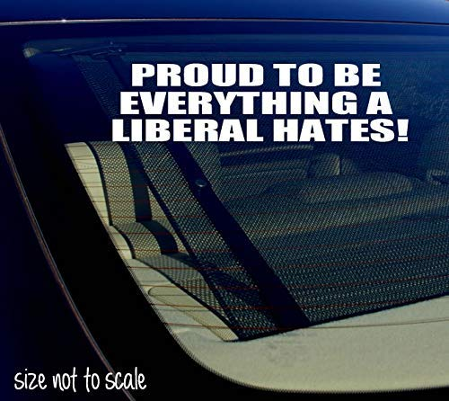 Proud to Be Everything A Liberal Hates Funny Anti Liberal Laptop Stickers Vinyl Decal for Car Window Bumper Cup Safe Decor Door Custom Sticker BT2859