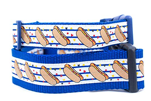 Hotdog Dog Collar 1 inch or 1.5 inch wide
