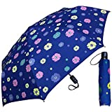Cheap RainStoppers Umbrella Auto Open/Close Changing Color Flower Print, Navy, 44″