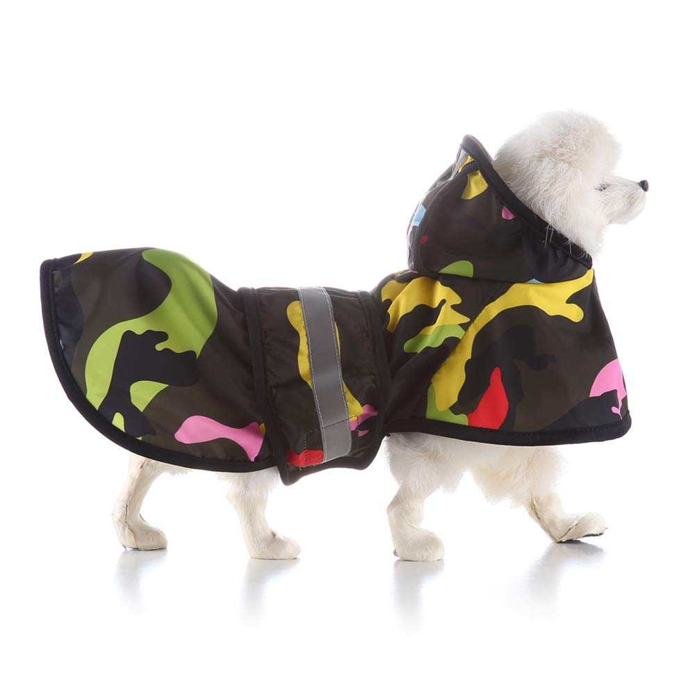 X-Large Pet Raincoat, Waterproof Rain Jacket with Hood Collar Hole, Lightweight Packable Outdoor Dog Poncho, for Small Or Medium Dogs,XL