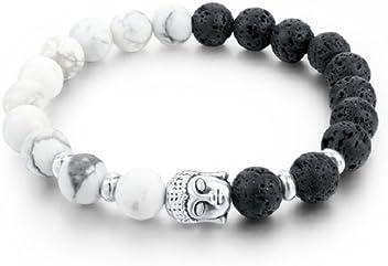 2018 Pulseras de Hombre Lava Stone Strand Bracelets & Bangles Natural Stone Bead Buddha Bracelets for